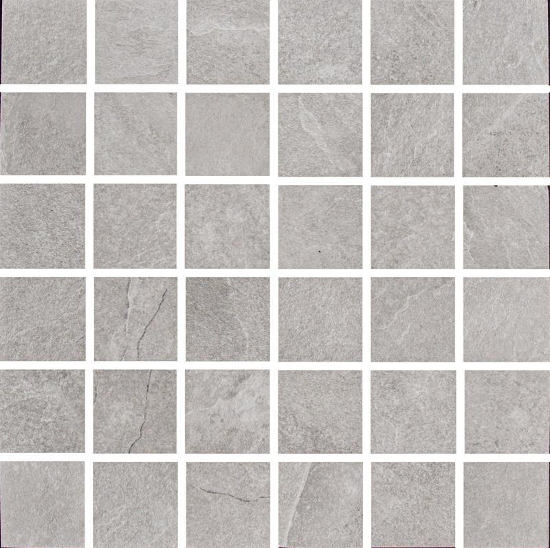 Ash Silver 2x2 Square Matte Porcelain  Mosaic