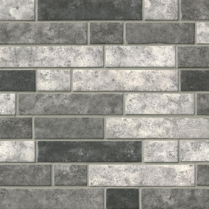 Backsplash Wall Tile Decorative Mosaics Urban Tapestry Glass, Dark Grey, Interlocking, Mosaic