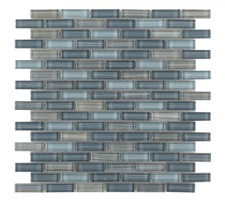 Venice Summer Fall 5/8x2 Interlocking  Glass  Mosaic
