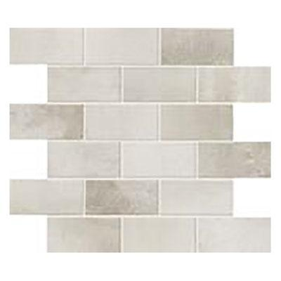 Steel Chrome Rectangular Polished Color Body Porcelain  Mosaic (Discontinued)
