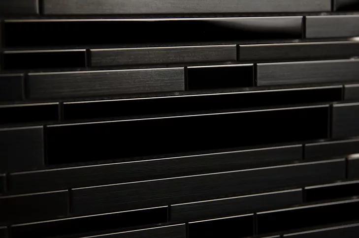 Stainless Steel Mosaic Black