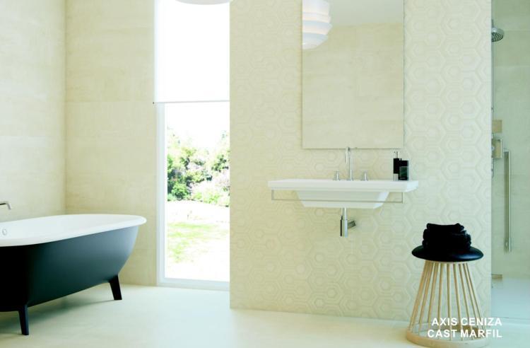 Cast Axis Marfil Glazed, Matte 12x36 Ceramic  Tile
