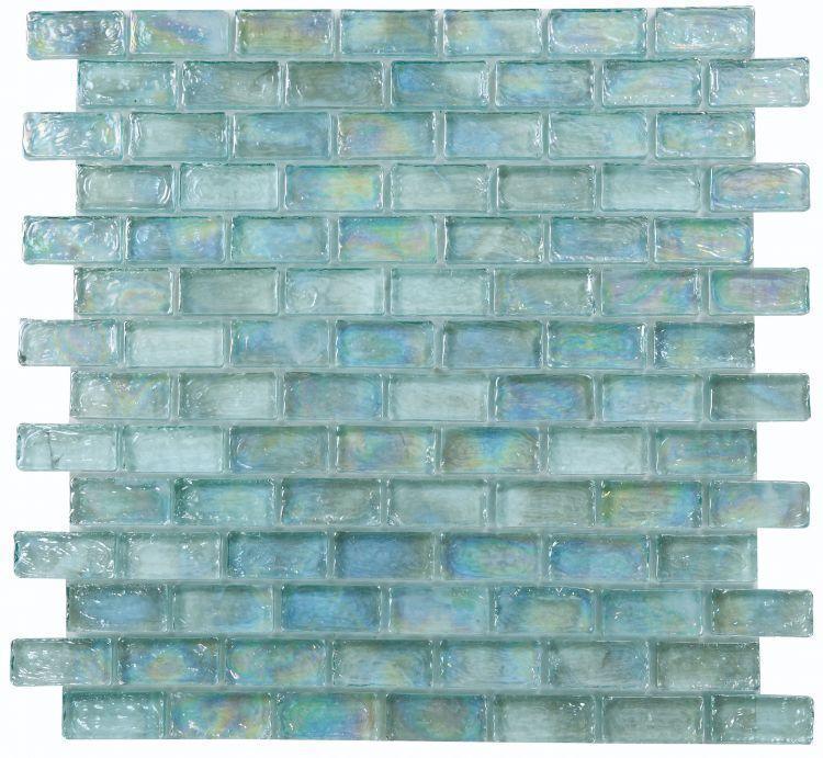 Malibu Turquoise Brick  Glass  Mosaic