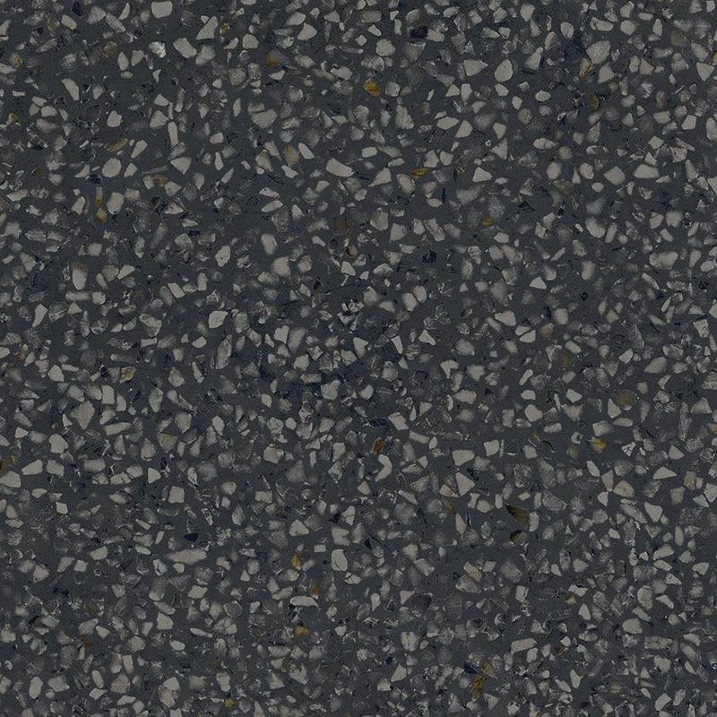 D Segni Terrazzo Black 8x8, Matte, Square, Color-Body-Porcelain, Tile