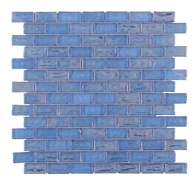 Malibu Iris Brick  Glass  Mosaic