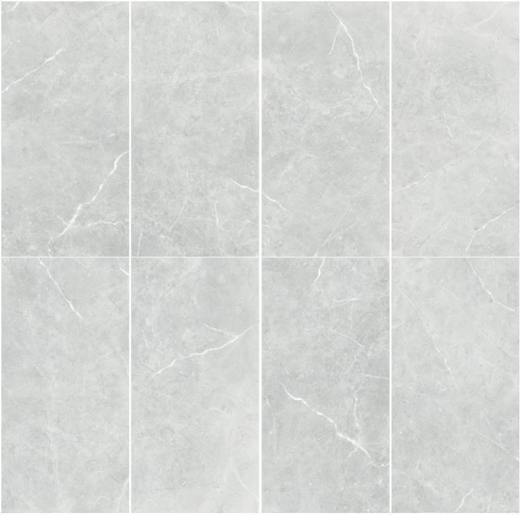 Lava Silver Grey Polished, Glazed 24x48 Porcelain  Tile