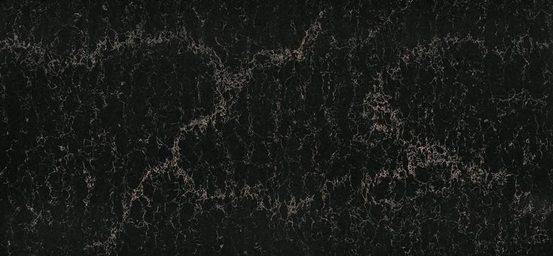 Supernatural Series Vanilla Noir Standard 57x120 13 mm Polished Quartz Slab