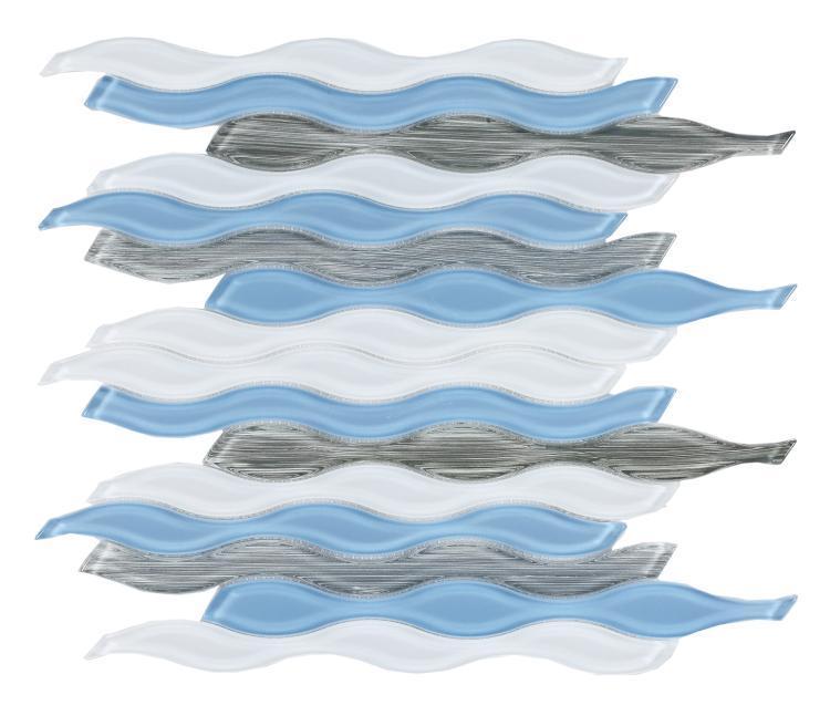 Water Sky Waterjet  Glass  Mosaic