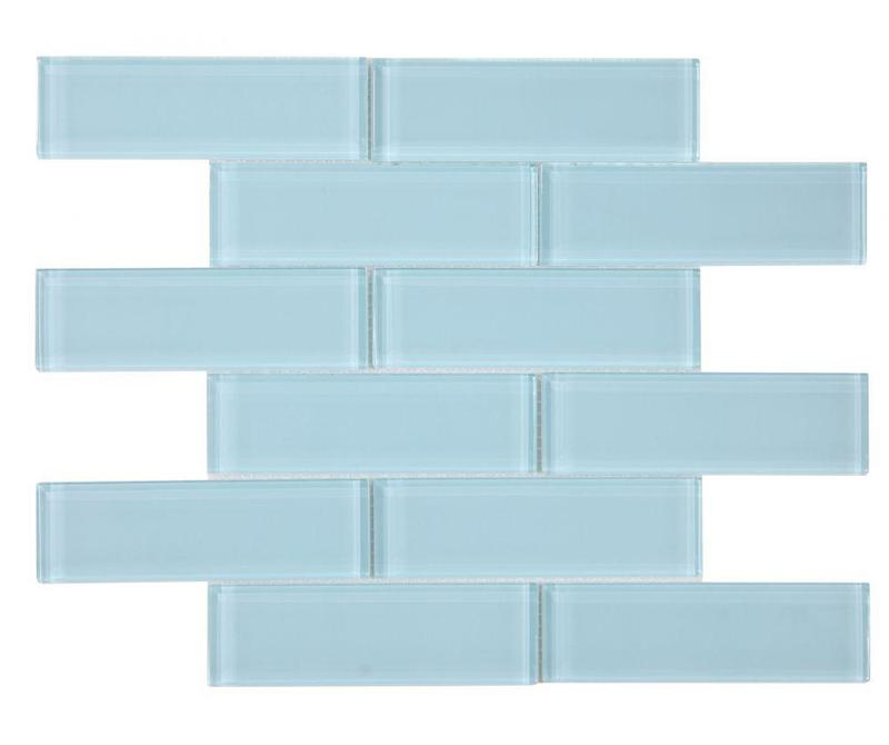 Casale Teal Subway Glossy Glass  Mosaic