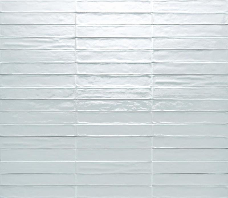 Ceramica Rondine Solid Acqua Glossy 2.5x15 Ceramic  Tile
