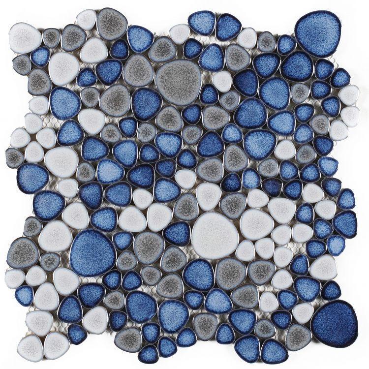 Growing Sky Pebble  Porcelain  Mosaic