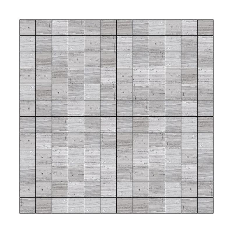 Marble Haisa Light 1x1 Square Honed   Mosaic