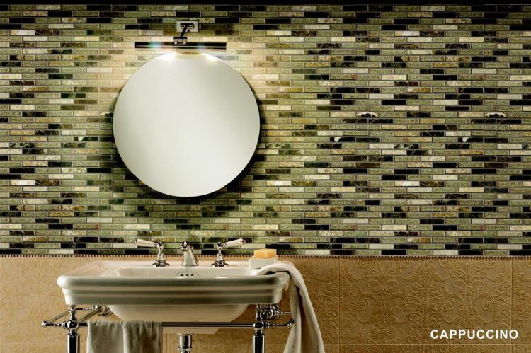 Jewel Cappuccino Linear  Glass  Mosaic