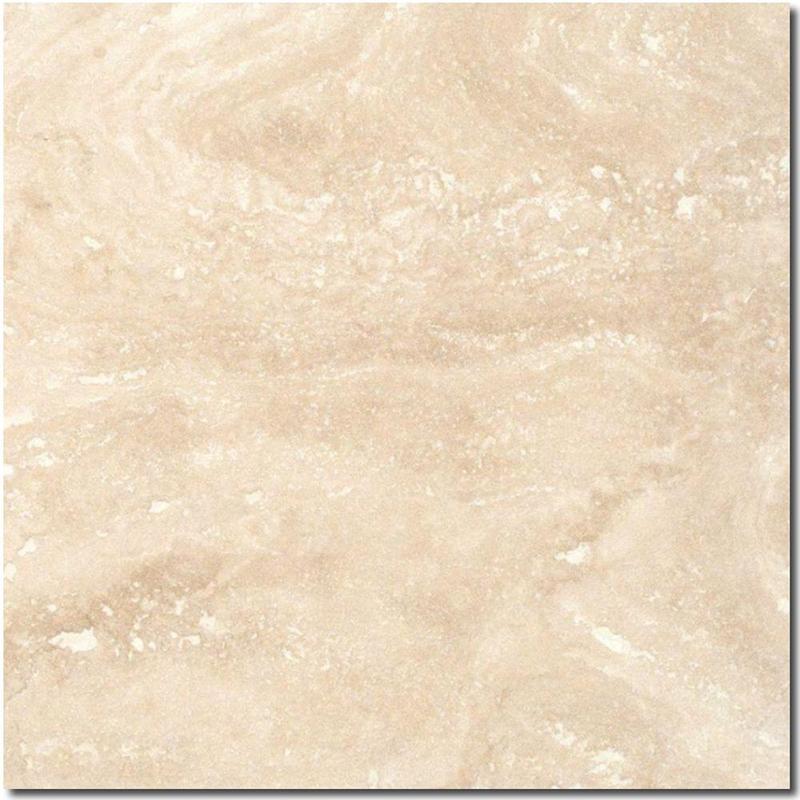 Ivory Travertine Tile 18x18 Honed, Filled