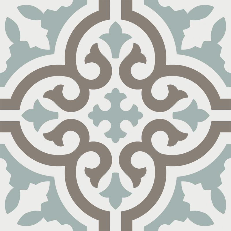 Casablanca Aqua 8x8, Matte, Multi-Color, Square, Porcelain, Tile