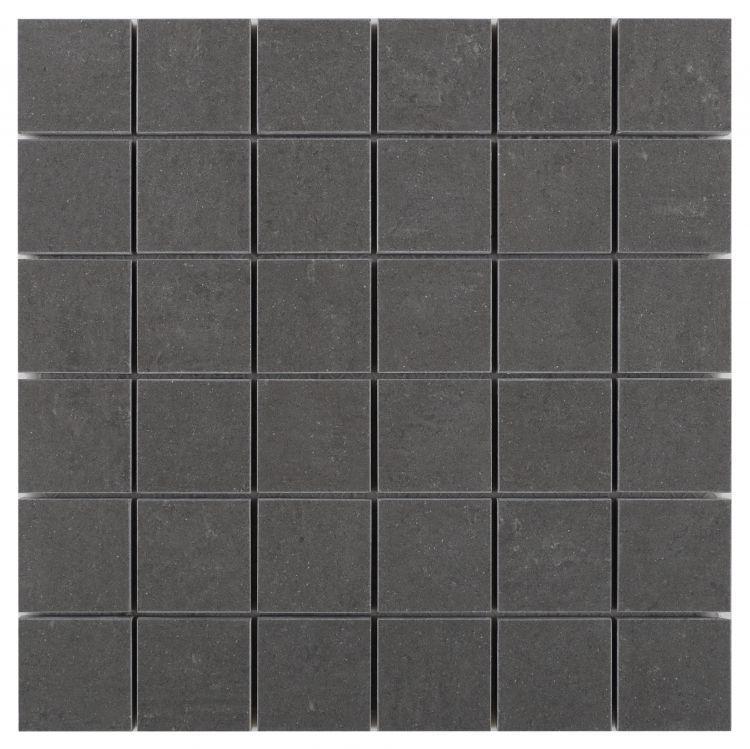 Grey Dark Square Matte Porcelain  Mosaic