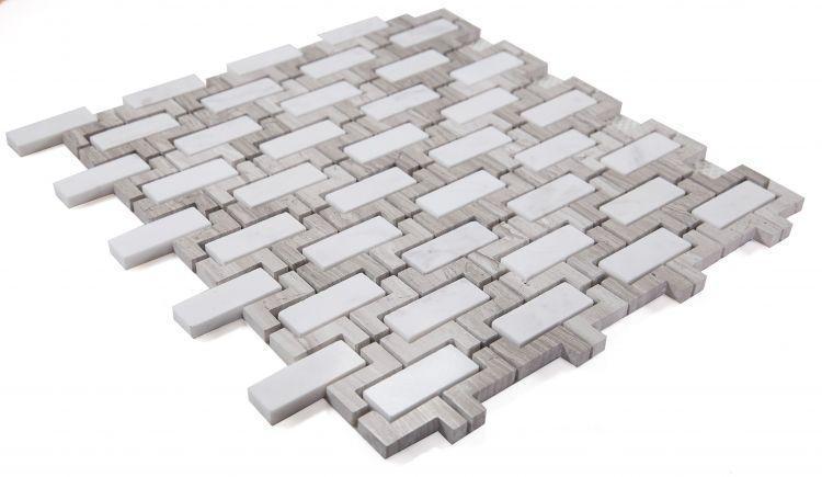 Louvre Aztec Loft Brick Polished Marble  Mosaic