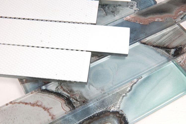 Shell Casale Green Subway Glossy Glass  Mosaic