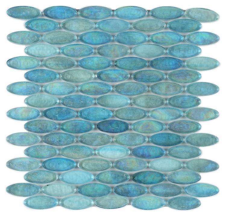 Malibu Turquoise Pebble  Glass  Mosaic