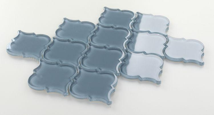 Arabesque Aladdin Blue Shining Glossy Glass  Mosaic
