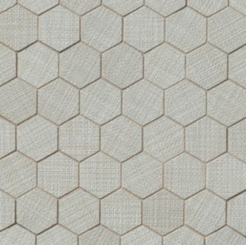 Dagny Fabrique Silver 2x2 Hexagon Matte Porcelain  Mosaic (Discontinued)