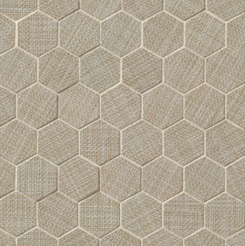 Dagny Fabrique Taupe 2x2 Hexagon Matte Porcelain  Mosaic (Discontinued)