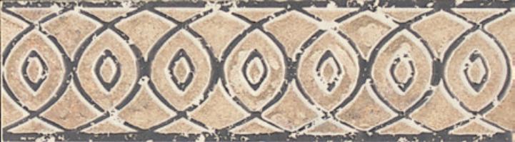 Forge Listello Baroque In Beige 2x6.5, Matte, Porcelain, Tile, (Discontinued)