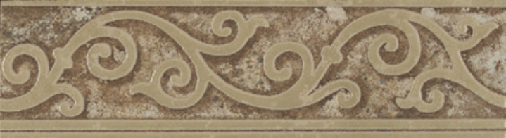 Forge Listello Baroque In Walnut Matte 2x6.5 Porcelain  Tile (Discontinued)