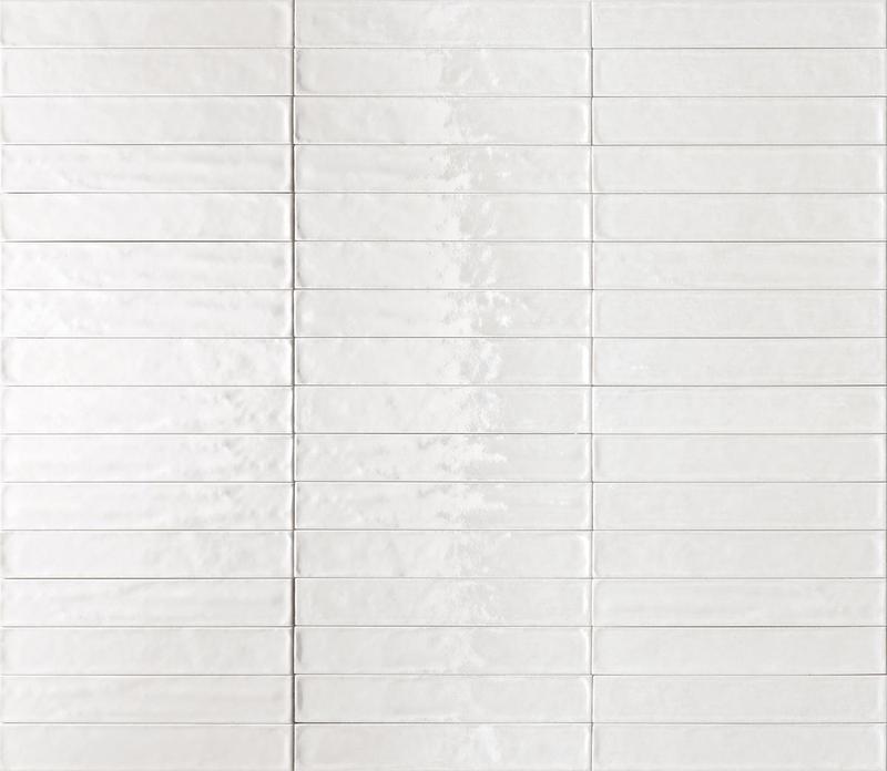 Ceramica Rondine Solid Bianco Glossy 2.5x15 Ceramic  Tile