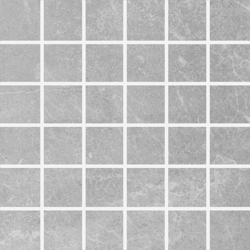 Stonemood Maxie Silver 2x2 Square Matte Porcelain  Mosaic