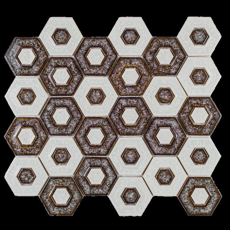 Jewel Eclipse Chic Hexagon  Glass  Mosaic