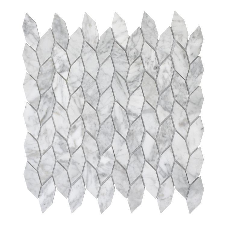 Lily Carrara Marble  Mosaic