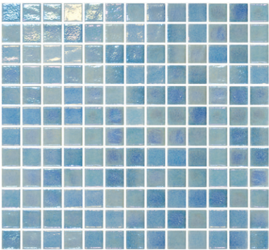 Onix Opalescent Celeste Azul 1x1 Square  Glass  Mosaic