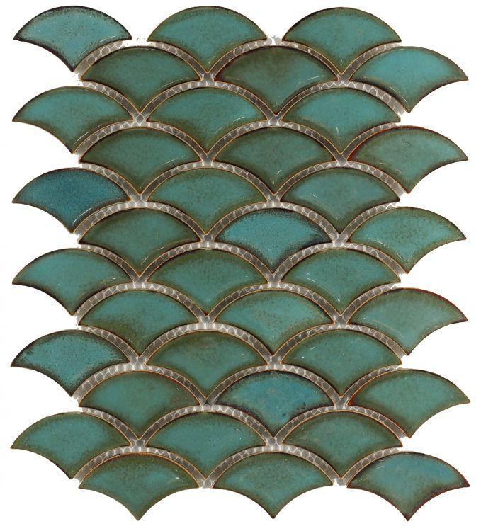 Dragon Scale Pure Aquos Porcelain  Mosaic
