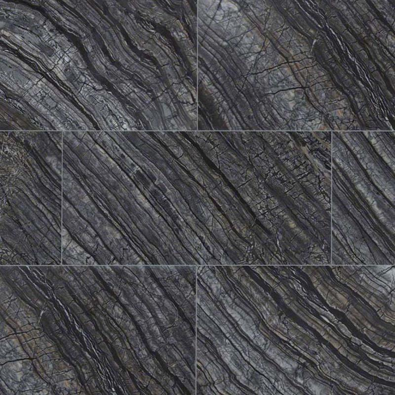 Natural Stone Marble Collections Black Oak 12x24, Polished, Rectangle, Tile