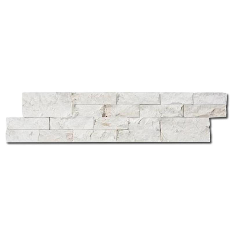 Ivory Marble Ledger Panel 6x24 Split-Face