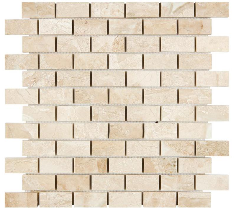 Marble Diano Reale 1x2 Brick Polished   Mosaic