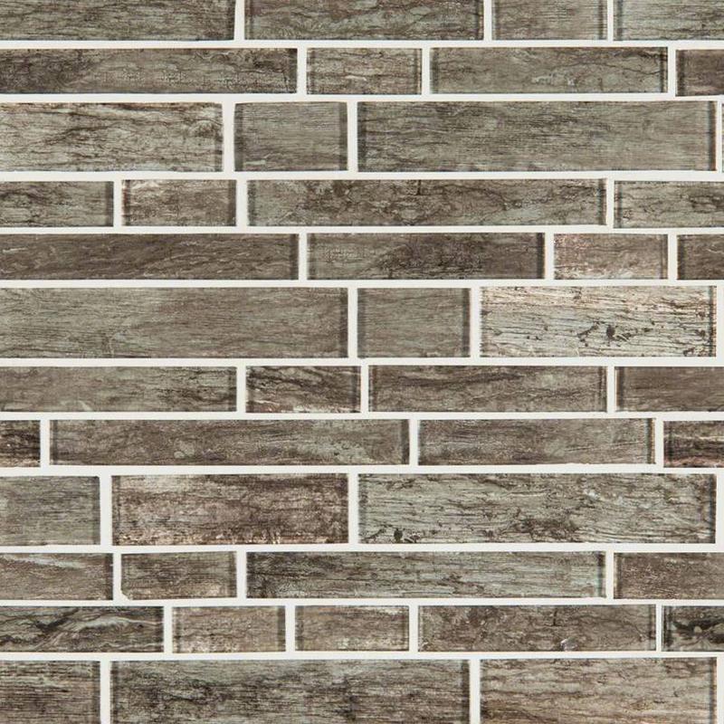 Backsplash Wall Tile Decorative Mosaics Antico Silversmith Glass, Light Grey, Interlocking, Mosaic