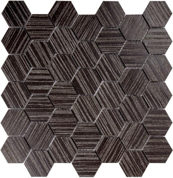 Horizon Black 2x2 Hexagon  Porcelain  Mosaic