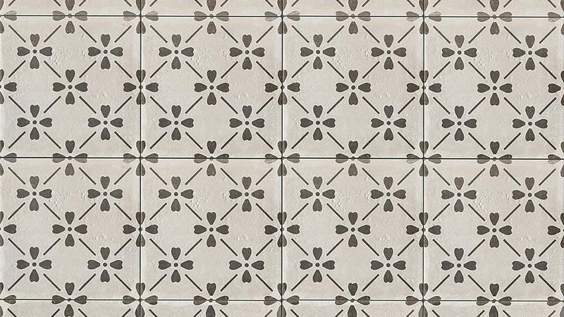 Palazzo Castle Graphite Bloom 12x12, Honed, Square, Color-Body-Porcelain, Tile