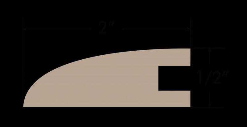 Yosemite 2xfree length, Uv-Cured, Maple, Hardwood, Trim