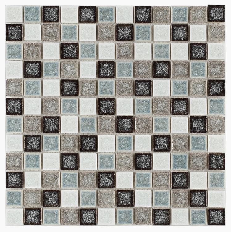 Jewel Abbey 1x1 Square  Glass  Mosaic