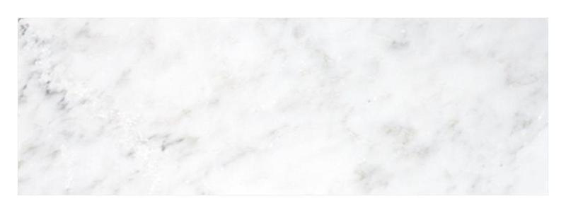 Oriental White Marble Tile 4x12 Honed