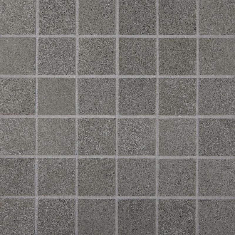 Cemento Rasato Antracite 2x2, Matte, Square, Color-Body-Porcelain, Mosaic