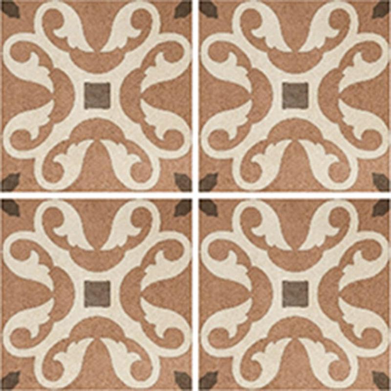 Cementine Retro 3 8x8, Glazed, Square, Porcelain, Tile