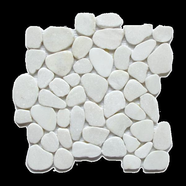 Pebble Mosaics Flat Matte Snowflake Mosaic