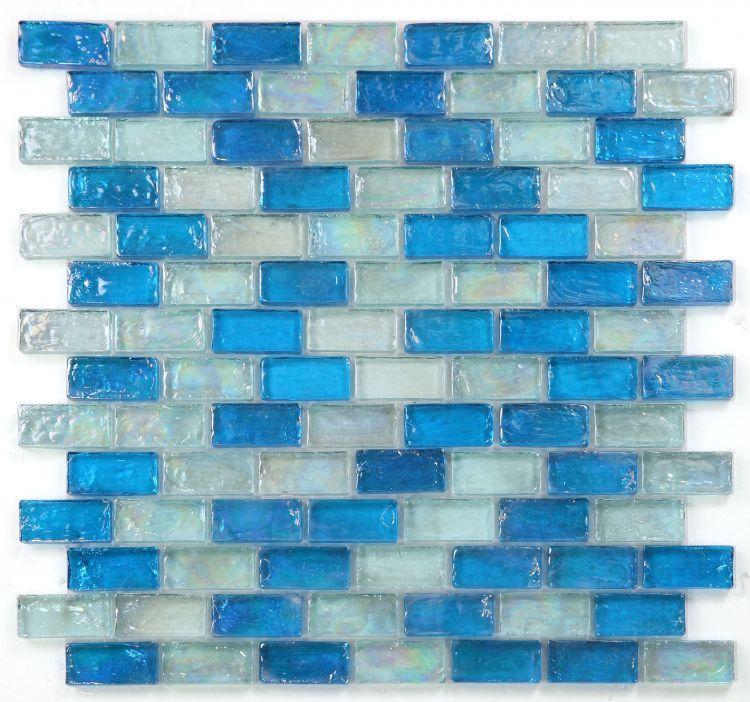 Malibu Ocean Brick  Glass  Mosaic