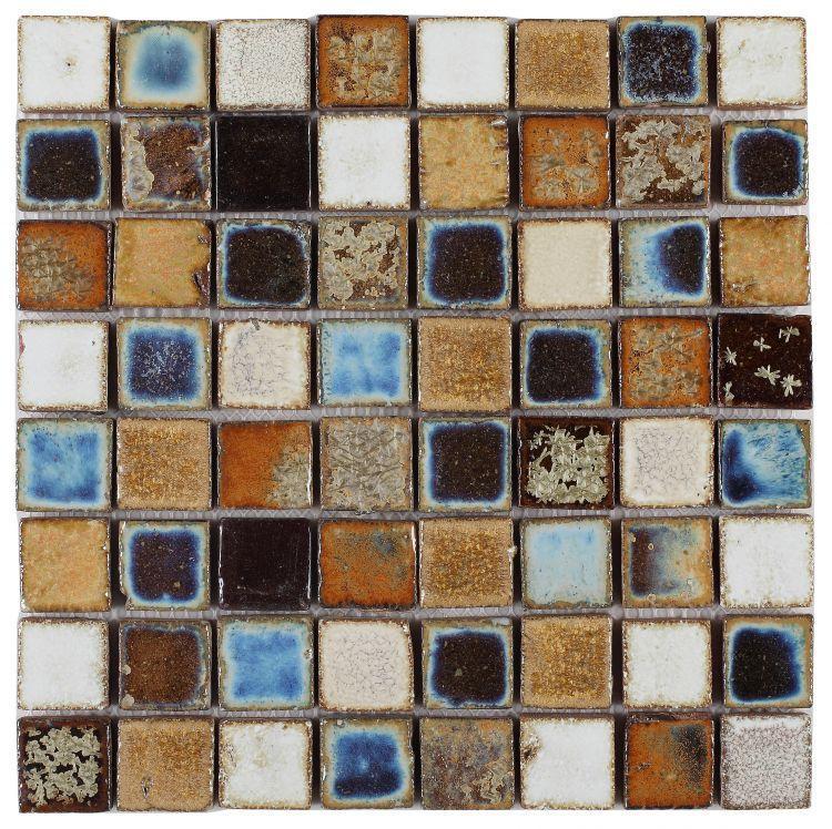 Roman Mango 1.5x1.5 Square  Porcelain  Mosaic