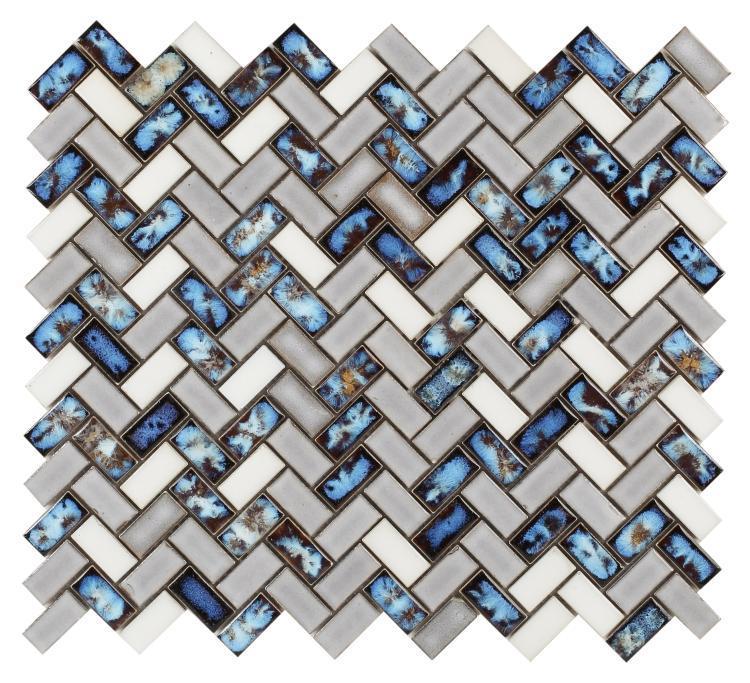 Hulu Tango Sky New Herringbone  Porcelain  Mosaic
