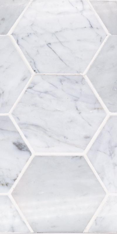 Sto Re Carrara 4x4 Hexagon Polished Natural Stone  Mosaic